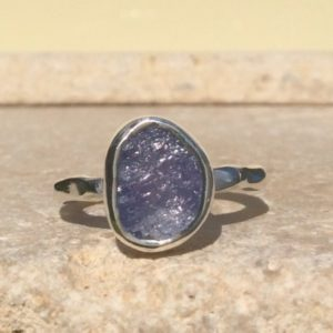 Shop Tanzanite Rings! Tanzanite Silver Ring, Raw Stone Ring, Natural Gemstone Silver Ring | Natural genuine Tanzanite rings, simple unique handcrafted gemstone rings. #rings #jewelry #shopping #gift #handmade #fashion #style #affiliate #ad