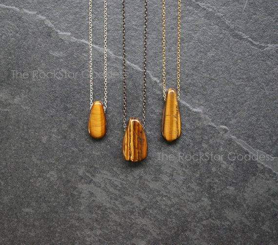 For Sale: Tigers Eye Necklace / Tiger Eye Necklace / Tiger