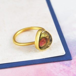 Shop Tourmaline Rings! Statement Ring, Gold Band, Gemstone Ring, Watermelon Tourmaline, Pink And Green Stone, Birthday Gifts, Delicate Ring, Unique Jewelry, Gifts | Natural genuine Tourmaline rings, simple unique handcrafted gemstone rings. #rings #jewelry #shopping #gift #handmade #fashion #style #affiliate #ad