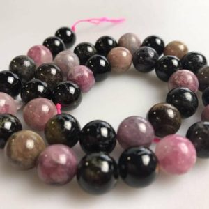 "Shop Tourmaline Beads! Multi-Color Tourmaline Smooth Round Beads 6mm 8mm 9mm 10mm 12mm 15.5"" Strand 