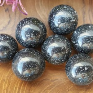 Black Tourmaline Crystal Sphere  – Hand Carved Gem Stone Ball for Crystal Grids or Terrarium 32-33 | Natural genuine stones & crystals in various shapes & sizes. Buy raw cut, tumbled, or polished gemstones for making jewelry or crystal healing energy vibration raising reiki stones. #crystals #gemstones #crystalhealing #crystalsandgemstones #energyhealing #affiliate #ad