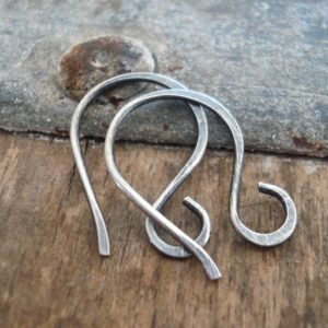 Shop Ear Wires & Posts for Making Earrings! Twinkle Sterling Silver Earwires – Handmade. Handforged. Oxidized and polished | Shop jewelry making and beading supplies, tools & findings for DIY jewelry making and crafts. #jewelrymaking #diyjewelry #jewelrycrafts #jewelrysupplies #beading #affiliate #ad