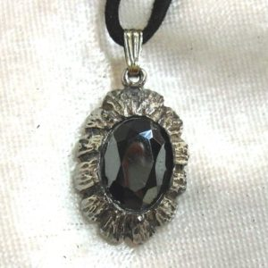 Shop Hematite Pendants! Vintage Hematite Pendant, Black Diamond Pendant Faceted Silver plated | Natural genuine Hematite pendants. Buy crystal jewelry, handmade handcrafted artisan jewelry for women.  Unique handmade gift ideas. #jewelry #beadedpendants #beadedjewelry #gift #shopping #handmadejewelry #fashion #style #product #pendants #affiliate #ad