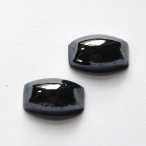 Shop Hematite Cabochons! Vintage Rectangle Black Hematite Cabochons 20mm x 13mm cab658 | Natural genuine stones & crystals in various shapes & sizes. Buy raw cut, tumbled, or polished gemstones for making jewelry or crystal healing energy vibration raising reiki stones. #crystals #gemstones #crystalhealing #crystalsandgemstones #energyhealing #affiliate #ad
