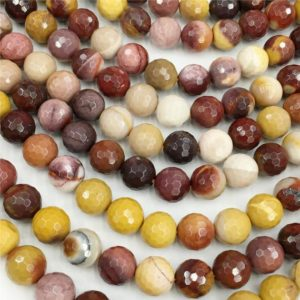 1 Full Strand Mookaite Jasper Faceted Beads ,8mm 10mm Beads ,Wholesale Beads | Natural genuine faceted Mookaite beads for beading and jewelry making.  #jewelry #beads #beadedjewelry #diyjewelry #jewelrymaking #beadstore #beading #affiliate #ad