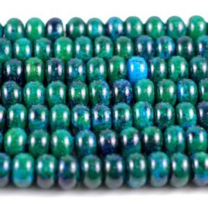 Shop Chrysocolla Beads! 10×6-10x7mm Turquoise Chrysocolla Gemstone Donut Rondelle Loose Beads 16 inch Full Strand (90114169-206) | Natural genuine beads Chrysocolla beads for beading and jewelry making.  #jewelry #beads #beadedjewelry #diyjewelry #jewelrymaking #beadstore #beading #affiliate #ad