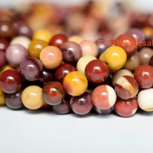 "Shop Mookaite Beads! 15.5"" 8mm Natural moukaite round beads, high quality moukaite semi-precious stone, mookaite jasper round beads 