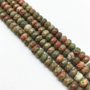 Shop Unakite Rondelle Beads! 15.5Inch 3 Full Strands 8mm Faceted Unakite Rondelle Beads ,Wholesale Beads | Natural genuine rondelle Unakite beads for beading and jewelry making.  #jewelry #beads #beadedjewelry #diyjewelry #jewelrymaking #beadstore #beading #affiliate #ad