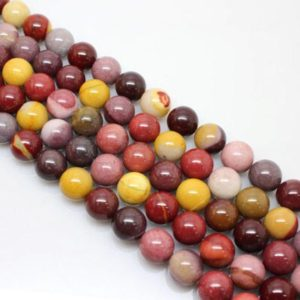 Shop Mookaite Beads! 15.5Inch Mookaite Jasper  Round Bead, 6mm 8mm 10mm 12mm Size | Natural genuine round Mookaite beads for beading and jewelry making.  #jewelry #beads #beadedjewelry #diyjewelry #jewelrymaking #beadstore #beading #affiliate #ad