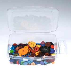 "Shop Bead Storage Containers & Organizers! Extra Large Clear Poly Plastic Container Snap Lid w/ Hang Tab 200  Bulk Count -4 1/2"" x 3 1/4"" x 1 1/3"" 