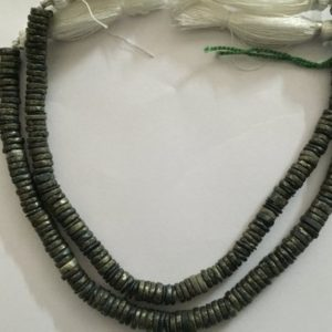 "Shop Obsidian Rondelle Beads! 3 strands of APPACHE OBSIDIAN 8"" RONDELLE 4-6MM each 