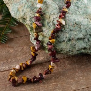 Shop Mookaite Necklaces! MOOKAITE Healing Crystal Chip Beaded Necklace – Bridesmaid Gift, Statement Necklace, Crystal Jewelry, Wedding Gift E0791 | Natural genuine Mookaite necklaces. Buy handcrafted artisan wedding jewelry.  Unique handmade bridal jewelry gift ideas. #jewelry #beadednecklaces #gift #crystaljewelry #shopping #handmadejewelry #wedding #bridal #necklaces #affiliate #ad