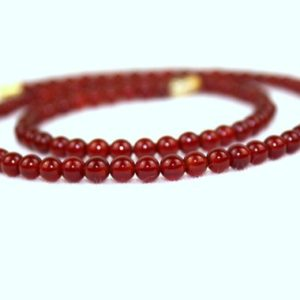 Shop Carnelian Necklaces! 4mm Carnelian Necklace. 4 mm Carnelian Beads. Red Orange Carnelian Necklace. Various Lengths. MapenziGems | Natural genuine Carnelian necklaces. Buy crystal jewelry, handmade handcrafted artisan jewelry for women.  Unique handmade gift ideas. #jewelry #beadednecklaces #beadedjewelry #gift #shopping #handmadejewelry #fashion #style #product #necklaces #affiliate #ad