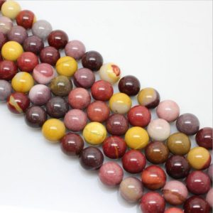 Shop Mookaite Jasper Round Beads! 4mm to 12mm Natural Mookaite jasper round loose gemstone beads strand 16 inch | Natural genuine round Mookaite Jasper beads for beading and jewelry making.  #jewelry #beads #beadedjewelry #diyjewelry #jewelrymaking #beadstore #beading #affiliate #ad