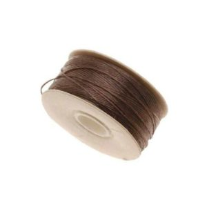 Shop Beading Thread! 64-Yard Nylon Beading Thread String Cord; Size D, Brown | Shop jewelry making and beading supplies, tools & findings for DIY jewelry making and crafts. #jewelrymaking #diyjewelry #jewelrycrafts #jewelrysupplies #beading #affiliate #ad
