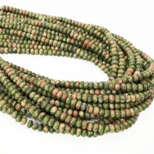Shop Unakite Rondelle Beads! 6mm 8mm Unakite Rondelle Beads , 15.5 Inch Strand,Hole Approx 0.8mm | Natural genuine rondelle Unakite beads for beading and jewelry making.  #jewelry #beads #beadedjewelry #diyjewelry #jewelrymaking #beadstore #beading #affiliate #ad