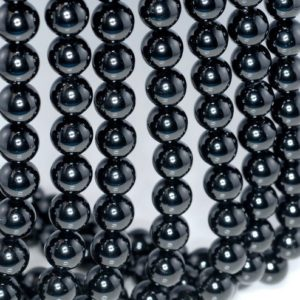 Shop Black Tourmaline Beads! 6mm Black Tourmaline Gemstone Grade AAA Black Round Loose Beads 16 inch Full Strand (90186326-729) | Natural genuine round Black Tourmaline beads for beading and jewelry making.  #jewelry #beads #beadedjewelry #diyjewelry #jewelrymaking #beadstore #beading #affiliate #ad