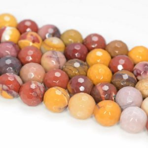 Shop Mookaite Beads! 6mm Mookaite Jasper Gemstone Faceted Round Loose Beads 15.5 inch Full Strand (90184149-355) | Natural genuine faceted Mookaite beads for beading and jewelry making.  #jewelry #beads #beadedjewelry #diyjewelry #jewelrymaking #beadstore #beading #affiliate #ad