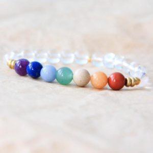 Shop Chakra Bracelets! 7 Chakra Bracelet, Chakra Mala Beads, Wrist Mala Bracelet, Chakra Beads, Yoga Jewelry, Energy Bracelet, Spiritual Jewelry, Healing Jewelry | Shop jewelry making and beading supplies, tools & findings for DIY jewelry making and crafts. #jewelrymaking #diyjewelry #jewelrycrafts #jewelrysupplies #beading #affiliate #ad