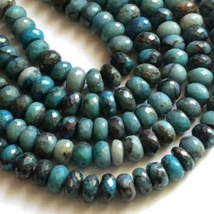 Shop Chrysocolla Rondelle Beads! 8 Inch Chrysocolla Rondelle Beads, 9mm Natural Chrysocolla Faceted Rondelle Beads, 34 Pcs Chrysocolla Necklace, Chrysocolla Bead – AAG7 | Natural genuine rondelle Chrysocolla beads for beading and jewelry making.  #jewelry #beads #beadedjewelry #diyjewelry #jewelrymaking #beadstore #beading #affiliate #ad