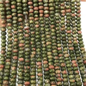Shop Unakite Rondelle Beads! 8x5mm Unakite Rondelle Beads, Rondelle Gemstone Beads, Wholesale Beads | Natural genuine rondelle Unakite beads for beading and jewelry making.  #jewelry #beads #beadedjewelry #diyjewelry #jewelrymaking #beadstore #beading #affiliate #ad