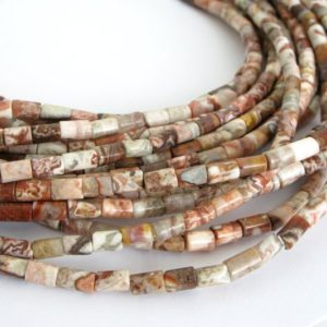 5mm Crazy Lace Agate Beads,  Great Colors, Crazy Lace Agate Tube Beads, Natural Color Gemstone Beads, Aga220 | Natural genuine other-shape Gemstone beads for beading and jewelry making.  #jewelry #beads #beadedjewelry #diyjewelry #jewelrymaking #beadstore #beading #affiliate #ad