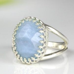 Lace Agate Ring · Oval Ring · Gemstone Ring · Silver Ring · Delicate Ring · Engagement Ring · Agate Jewelry · Fine Rings | Natural genuine Gemstone rings, simple unique alternative gemstone engagement rings. #rings #jewelry #bridal #wedding #jewelryaccessories #engagementrings #weddingideas #affiliate #ad