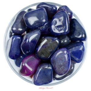 Shop Tumbled Agate Crystals & Pocket Stones! One 1 JUMBO Purple Agate Tumbled Stone, Purple Agate Tumbled Stones, Purple Agate Tumbled Stone, Purple Agate Tumbled Stones, Healing Agate | Natural genuine stones & crystals in various shapes & sizes. Buy raw cut, tumbled, or polished gemstones for making jewelry or crystal healing energy vibration raising reiki stones. #crystals #gemstones #crystalhealing #crystalsandgemstones #energyhealing #affiliate #ad