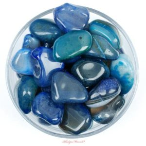 Shop Tumbled Agate Crystals & Pocket Stones! One 1 JUMBO Blue Agate Tumbled Stone, Blue Agate Tumbled Stone, Blue Agate Tumbled Stones, Healing Blue Agate Stones, RhodopeMinerals | Natural genuine stones & crystals in various shapes & sizes. Buy raw cut, tumbled, or polished gemstones for making jewelry or crystal healing energy vibration raising reiki stones. #crystals #gemstones #crystalhealing #crystalsandgemstones #energyhealing #affiliate #ad
