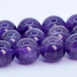 Purple Amethyst Beads Grade AAA Genuine Natural Gemstone Round Loose Beads 4MM 6MM 8MM 10MM 12MM Bulk Lot Options | Natural genuine beads Amethyst beads for beading and jewelry making.  #jewelry #beads #beadedjewelry #diyjewelry #jewelrymaking #beadstore #beading #affiliate #ad