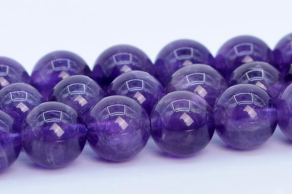 Purple Amethyst Beads Grade Aaa Genuine Natural Gemstone Round Loose Beads 4mm 6mm 8mm 10mm Bulk Lot Options