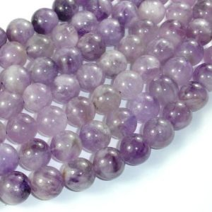 Shop Amethyst Round Beads! Light Amethyst, 12mm Round Beads, 15.5 Inch, Full Strand, Approx 32 Beads, Hole 1mm (115054050) | Natural genuine round Amethyst beads for beading and jewelry making.  #jewelry #beads #beadedjewelry #diyjewelry #jewelrymaking #beadstore #beading #affiliate #ad