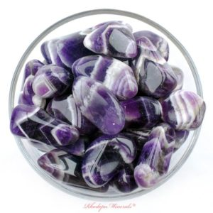Shop Tumbled Amethyst Crystals & Pocket Stones! One 1 Banded Amethyst Tumbled Stone, Amethyst Chevron Tumbled Stones, Banded Amethyst Tumbled Stones, Healing Stones, Healing Crystals, Gift | Natural genuine stones & crystals in various shapes & sizes. Buy raw cut, tumbled, or polished gemstones for making jewelry or crystal healing energy vibration raising reiki stones. #crystals #gemstones #crystalhealing #crystalsandgemstones #energyhealing #affiliate #ad