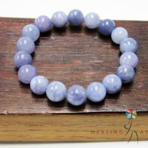 Angelite Bracelet Healing Chakra Bracelet Yoga Meditation Angelite Bracelet Angelite Aquarius Bracelet Throat Chakra Angelite Yoga Mala | Natural genuine Gemstone bracelets. Buy crystal jewelry, handmade handcrafted artisan jewelry for women.  Unique handmade gift ideas. #jewelry #beadedbracelets #beadedjewelry #gift #shopping #handmadejewelry #fashion #style #product #bracelets #affiliate #ad