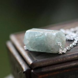 Shop Aquamarine Necklaces! Aquamarine Necklace – Beaded Gemstone – Sterling Silver Jewelry – Minimalist Jewelry – Crystal Necklace | Natural genuine Aquamarine necklaces. Buy crystal jewelry, handmade handcrafted artisan jewelry for women.  Unique handmade gift ideas. #jewelry #beadednecklaces #beadedjewelry #gift #shopping #handmadejewelry #fashion #style #product #necklaces #affiliate #ad