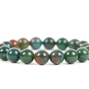 Bloodstone Bracelet, Heliotrope Stretch 10mm Beads Statement Bracelet, Handmade Gemstone Jewelry | Natural genuine Bloodstone bracelets. Buy crystal jewelry, handmade handcrafted artisan jewelry for women.  Unique handmade gift ideas. #jewelry #beadedbracelets #beadedjewelry #gift #shopping #handmadejewelry #fashion #style #product #bracelets #affiliate #ad