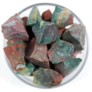 Shop Bloodstone Stones & Crystals! One 1 Rough Bloodstone Heliotrope Stone, Raw Jasper Crystal, Raw Bloodstone Crystal, Natural Healing Rough Jasper, Rhodopeminerals | Natural genuine stones & crystals in various shapes & sizes. Buy raw cut, tumbled, or polished gemstones for making jewelry or crystal healing energy vibration raising reiki stones. #crystals #gemstones #crystalhealing #crystalsandgemstones #energyhealing #affiliate #ad