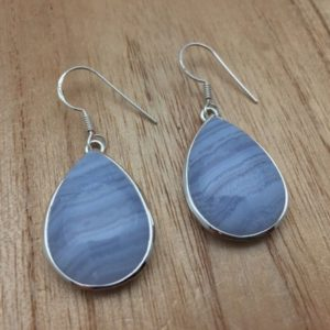 Shop Blue Lace Agate Earrings! Blue Lace Agate Earrings // 925 Sterling Silver // Hook Backing // Teardrop Shape // Blue Agate Earrings // Blue Lace Agate Earrings | Natural genuine Blue Lace Agate earrings. Buy crystal jewelry, handmade handcrafted artisan jewelry for women.  Unique handmade gift ideas. #jewelry #beadedearrings #beadedjewelry #gift #shopping #handmadejewelry #fashion #style #product #earrings #affiliate #ad