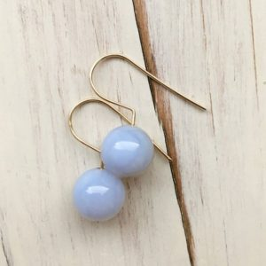 Shop Blue Lace Agate Earrings! Blue Lace Agate Earrings Blue Lace Agate Orb Earrings Gemstone Jewelry | Natural genuine Blue Lace Agate earrings. Buy crystal jewelry, handmade handcrafted artisan jewelry for women.  Unique handmade gift ideas. #jewelry #beadedearrings #beadedjewelry #gift #shopping #handmadejewelry #fashion #style #product #earrings #affiliate #ad