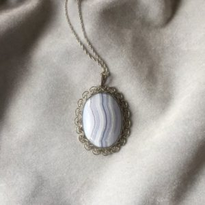 Shop Blue Lace Agate Pendants! Blue Lace Agate Pendant | Natural genuine Blue Lace Agate pendants. Buy crystal jewelry, handmade handcrafted artisan jewelry for women.  Unique handmade gift ideas. #jewelry #beadedpendants #beadedjewelry #gift #shopping #handmadejewelry #fashion #style #product #pendants #affiliate #ad