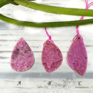 Shop Calcite Beads! Rare & Natural Cobalto Calcite Pink Druzy Freeform Pendants (etp00165) | Natural genuine other-shape Calcite beads for beading and jewelry making.  #jewelry #beads #beadedjewelry #diyjewelry #jewelrymaking #beadstore #beading #affiliate #ad
