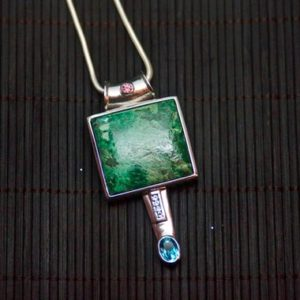 Shop Chrysocolla Necklaces! Chrysocolla Pendant // Chrysocolla // Chrysocolla Necklace // Green Pendant // Green Necklace // Sterling Silver // Topaz // Garnet | Natural genuine Chrysocolla necklaces. Buy crystal jewelry, handmade handcrafted artisan jewelry for women.  Unique handmade gift ideas. #jewelry #beadednecklaces #beadedjewelry #gift #shopping #handmadejewelry #fashion #style #product #necklaces #affiliate #ad