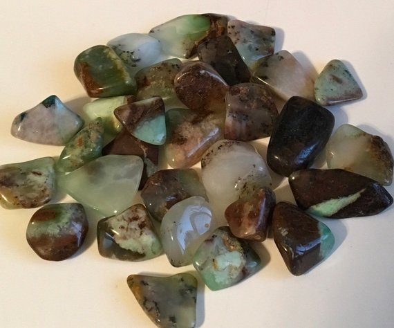 Chrysoprase Tumbled Stone, Beautiful Calming, Creates Openness, Relaxation, Peaceful Sleep, Healing Stone, Chakra Stone, Spiritual Stone