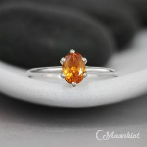 Shop Citrine Rings! Citrine Oval Engagement Ring – Sterling Silver Oval Solitaire Ring – Oval Gemstone Bridal Ring – Six Prong Ring – November Birthstone Ring | Natural genuine Citrine rings, simple unique alternative gemstone engagement rings. #rings #jewelry #bridal #wedding #jewelryaccessories #engagementrings #weddingideas #affiliate #ad