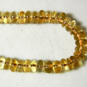 Shop Citrine Rondelle Beads! Citrine Beads, 9-9.5mm Rondelle Beads, Smooth Rondelles, 3 Inch Strand, 15 Pieces Approx | Natural genuine rondelle Citrine beads for beading and jewelry making.  #jewelry #beads #beadedjewelry #diyjewelry #jewelrymaking #beadstore #beading #affiliate #ad