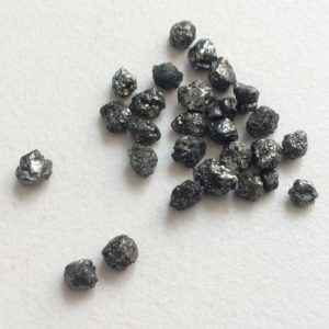 Shop Diamond Chip & Nugget Beads! Black Diamonds, Black Rough Diamond, Black Raw Diamond, Uncut Diamond, Conflict Free 4-6mm, 2 pcs, 1 CTW | Natural genuine chip Diamond beads for beading and jewelry making.  #jewelry #beads #beadedjewelry #diyjewelry #jewelrymaking #beadstore #beading #affiliate #ad