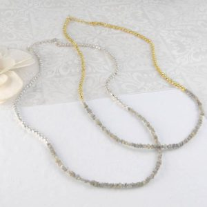 Shop Diamond Necklaces! Fine Diamond Necklace, Rough Diamond, Silver Necklace, Gold Necklace, Diamond Jewelry, Fine Jewelry, Simple Diamond Necklace, Simple Jewelry | Natural genuine Diamond necklaces. Buy crystal jewelry, handmade handcrafted artisan jewelry for women.  Unique handmade gift ideas. #jewelry #beadednecklaces #beadedjewelry #gift #shopping #handmadejewelry #fashion #style #product #necklaces #affiliate #ad