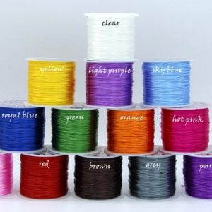 Shop Beading Thread! Elastic Cord Elastic Thread Stretch Crystal String Roll 0.8mm Stretch Cord Elastic Wire Stretch Ribbon Beading Thread Jewelry Cord | Shop jewelry making and beading supplies, tools & findings for DIY jewelry making and crafts. #jewelrymaking #diyjewelry #jewelrycrafts #jewelrysupplies #beading #affiliate #ad