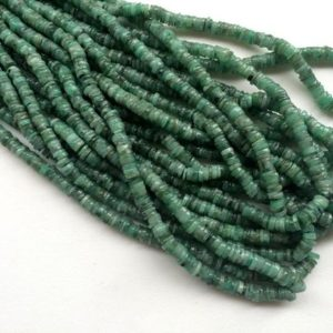 Shop Emerald Bead Shapes! Emerald Beads, Emerald Tyre Beads, Emerald Wheel Spacer Beads, Emerald Necklace, 6mm Approx., 16 Inch Strand – AGA8 | Natural genuine other-shape Emerald beads for beading and jewelry making.  #jewelry #beads #beadedjewelry #diyjewelry #jewelrymaking #beadstore #beading #affiliate #ad