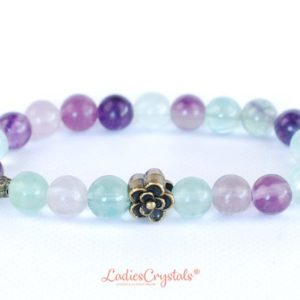 Shop Fluorite Bracelets! Rainbow Fluorite Bracelet, Green fluorite Bracelets 8 mm, Fluorite Bracelets, Fluorite Bead Bracelet, Fluorite Crystals, Gift, Healing | Natural genuine Fluorite bracelets. Buy crystal jewelry, handmade handcrafted artisan jewelry for women.  Unique handmade gift ideas. #jewelry #beadedbracelets #beadedjewelry #gift #shopping #handmadejewelry #fashion #style #product #bracelets #affiliate #ad